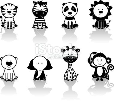 25+ Free Clipart Black And White Animals