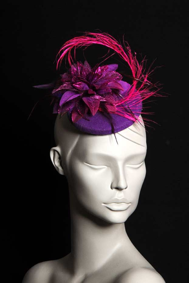 Photo of Leila / Purple Floral Small Evening Hat