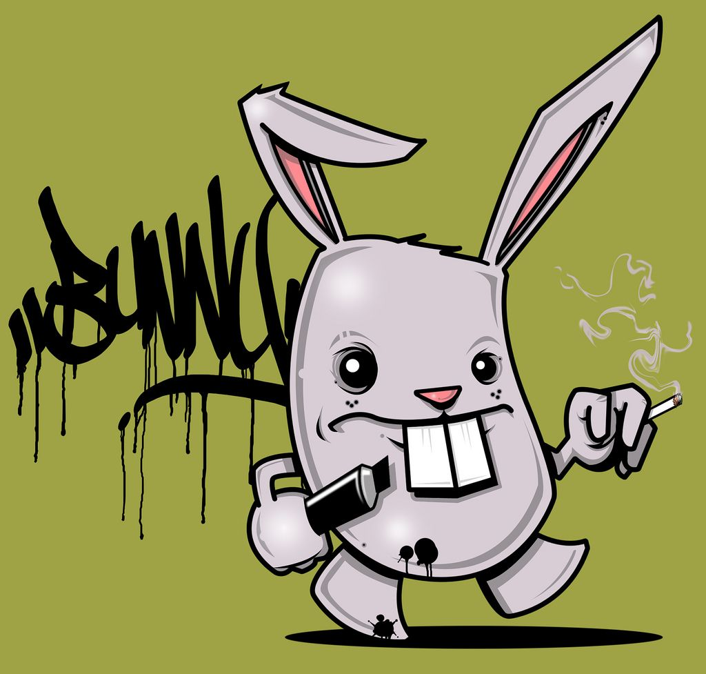 The Bad Bunny By Seamo Graffiti Characters Graffiti Drawing Graffiti Designs