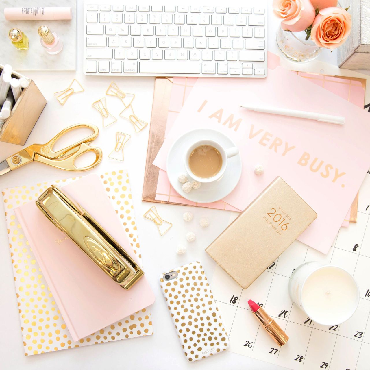 Make Your Desk Space Chic Af Pink Home Offices Girly Office