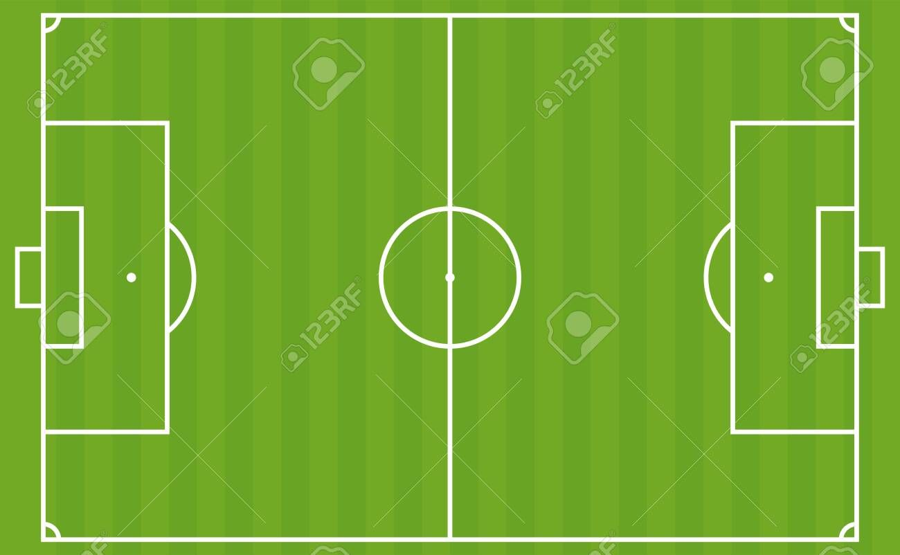 Football Pitch The European Soccer Field Layout Vector Illustration Aff European Soccer Football Pitch European Soccer Football Pitch Soccer Field