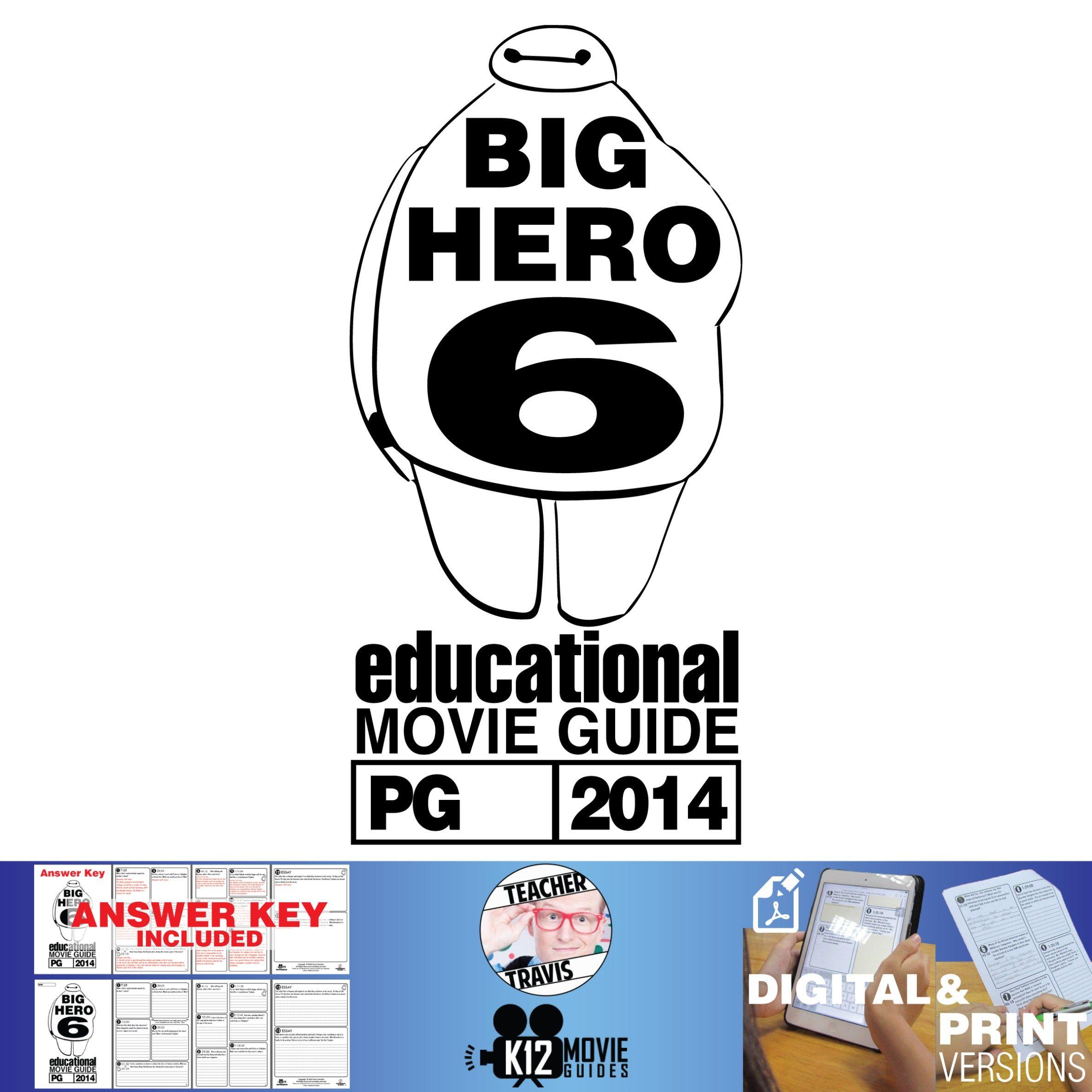 Big Hero 6 Movieguide Questions Worksheet Pg