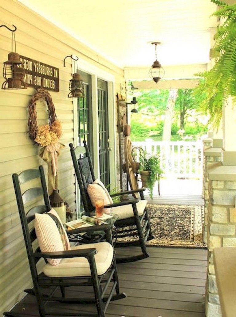 58 Comfy Farmhouse Sunroom Makeover Decor Ideas Rocking Chair Porch Farmhouse Rocking Chairs Farmhouse Decor Living Room