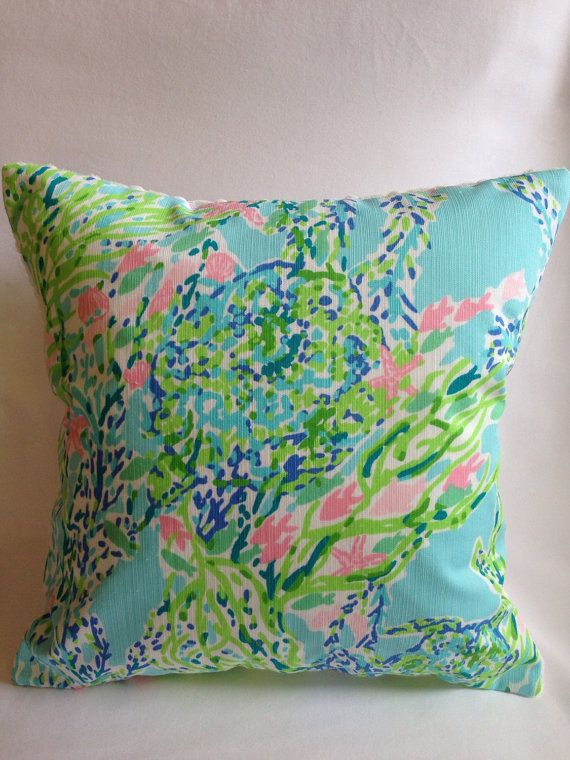 Lilly Pulitzer Pillow Lilly Pillow Cover by SweetBabyBurpies Lilly