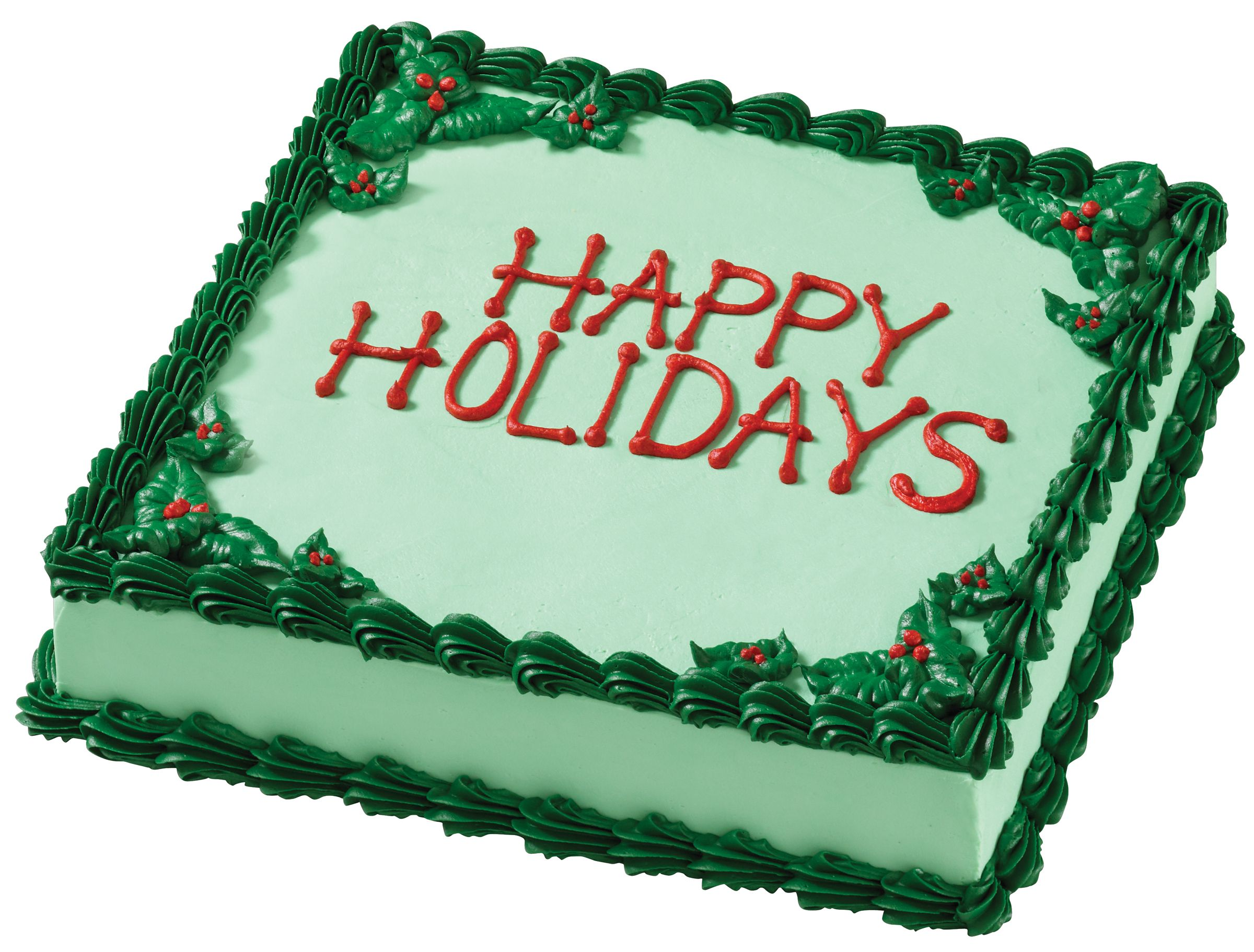 Square Xmas Cake Designs : Happy Holidays Square Cake Holiday Ice Cream Cakes ...