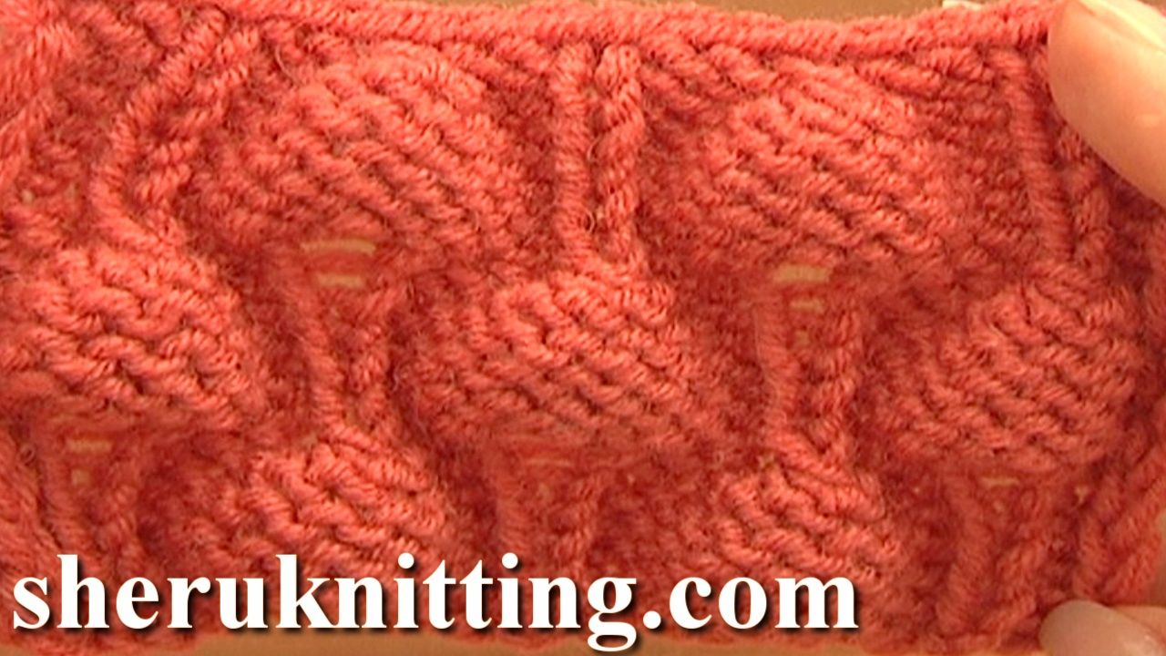 KNITTTING STRAWBERRY STITCH PATTERN Tutorial 13. http://sheruknitting.com/knitting-stitch/knitting-stitch-patterns/item/675-knitting-strawberry-stitch-pattern.html With this free video tutorial you will learn how to knit a strawberry stitch. See more beautiful knitting stitch patterns. Easy to knit strawberry stitch. Making each strawberry involves increasing several times in the same stitch.