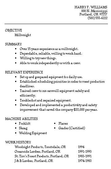 14 Sample Reumes for Construction, Trades, and Labor | Resume ...