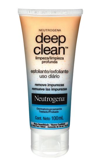 NEUTROGENA® DEEP CLEAN® Esfoliante Limpa profundamente os poros evitando acúmlo de resíduos, sujeira e oleosidade