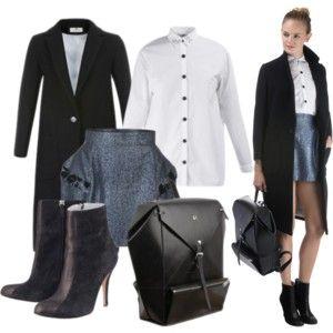 Girl in the city!  Shirt - Dévastée  Coat - Dévastée Skirt - Constance Boutet  Bag - Nicolas Theil  Shoes - Fred Marzo   Kreateurs.com
