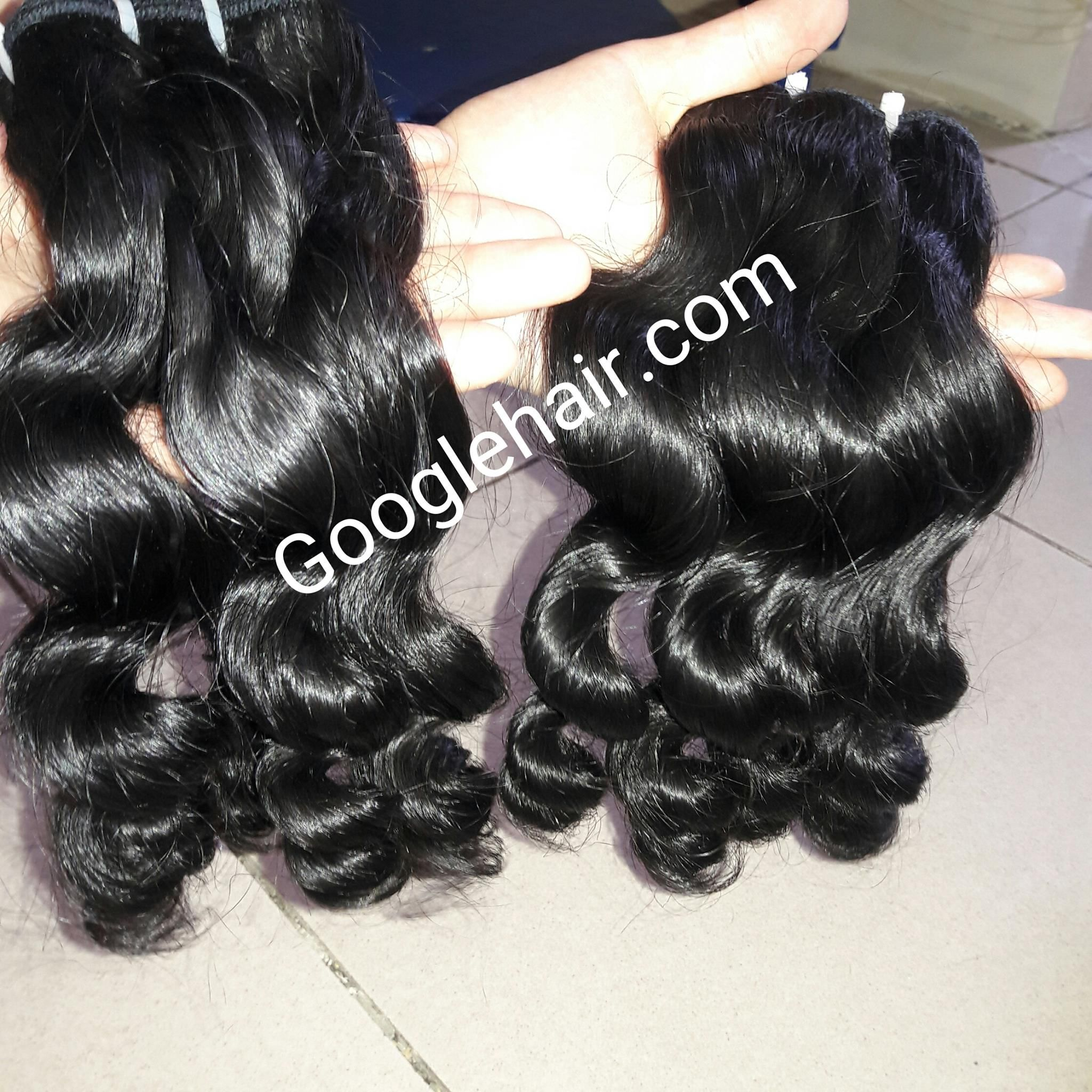Queen Hair Deep Wavy hair Beautiful Machine Weft Hair Extensions in Vietnam