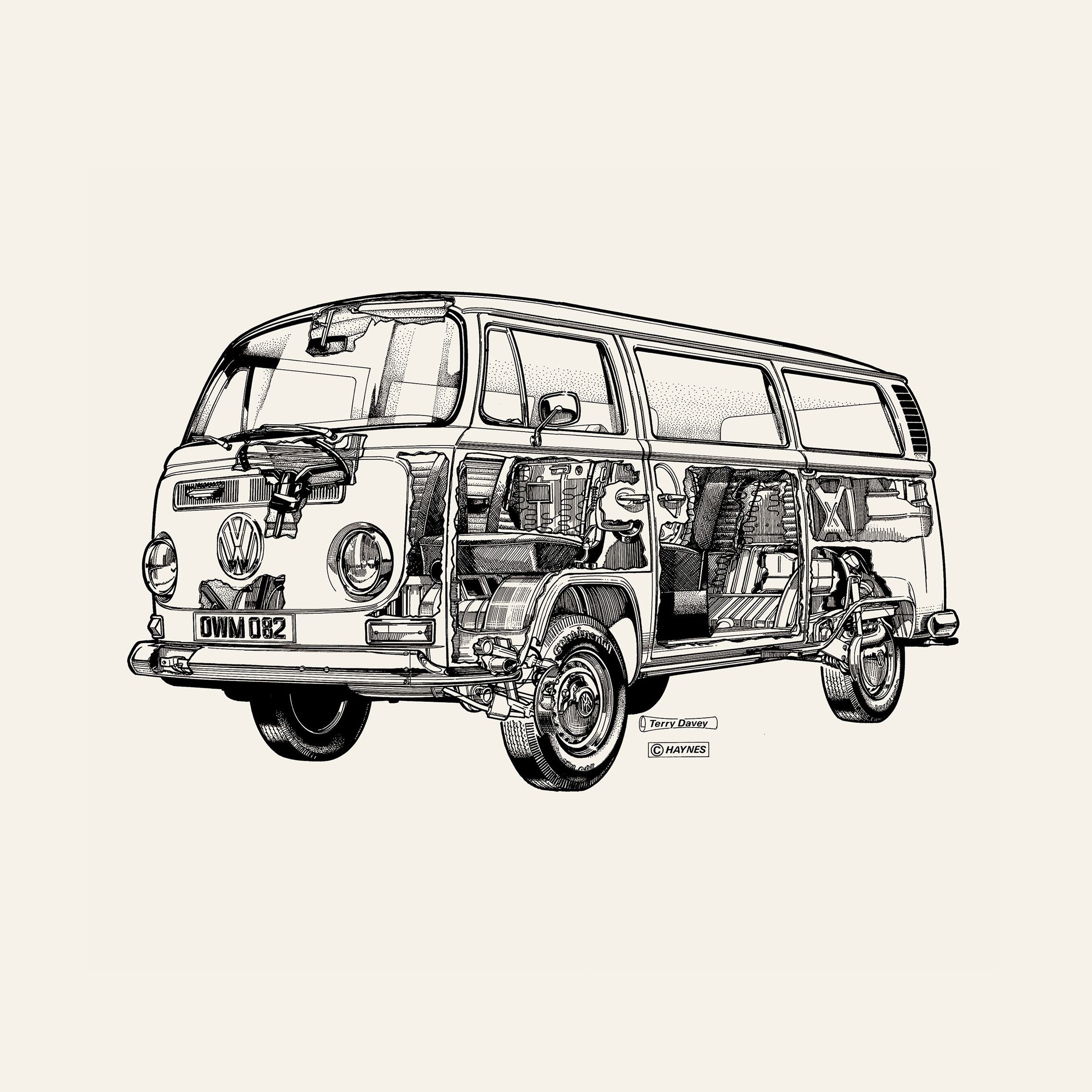 Exclusive Graphic Of A White Camper Van Derived From An