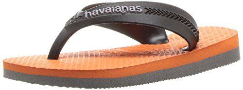 985898078691 perfect Havaianas Kids  Max Sandal Neon Orange Flip Flop