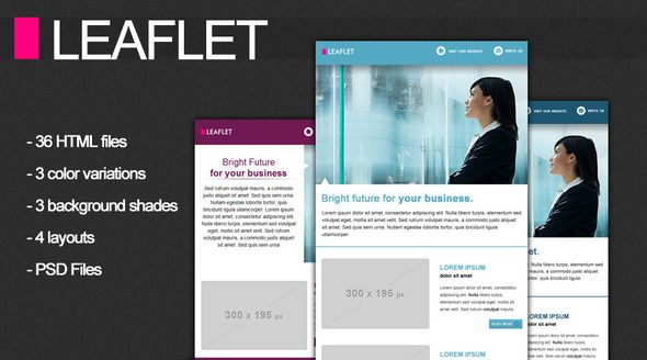 Leaflet Corporate Newsletter  Themeforest Item For Sale