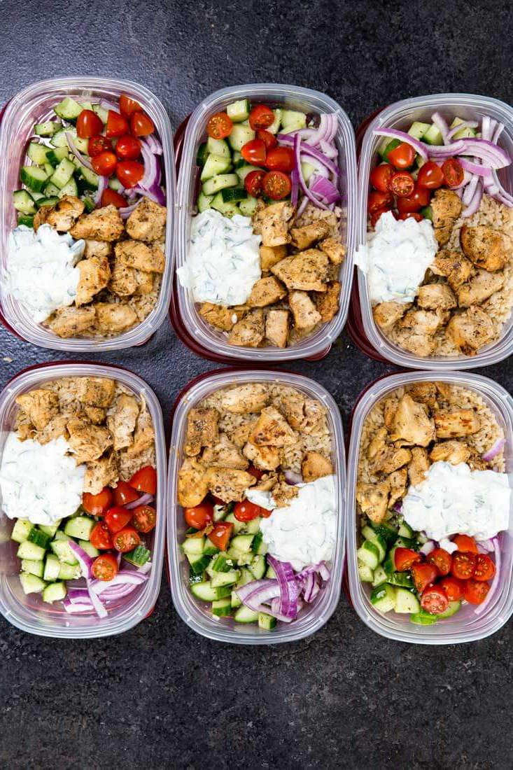 Greek Chicken Bowls Prep Ahead Meals Salud Lunch