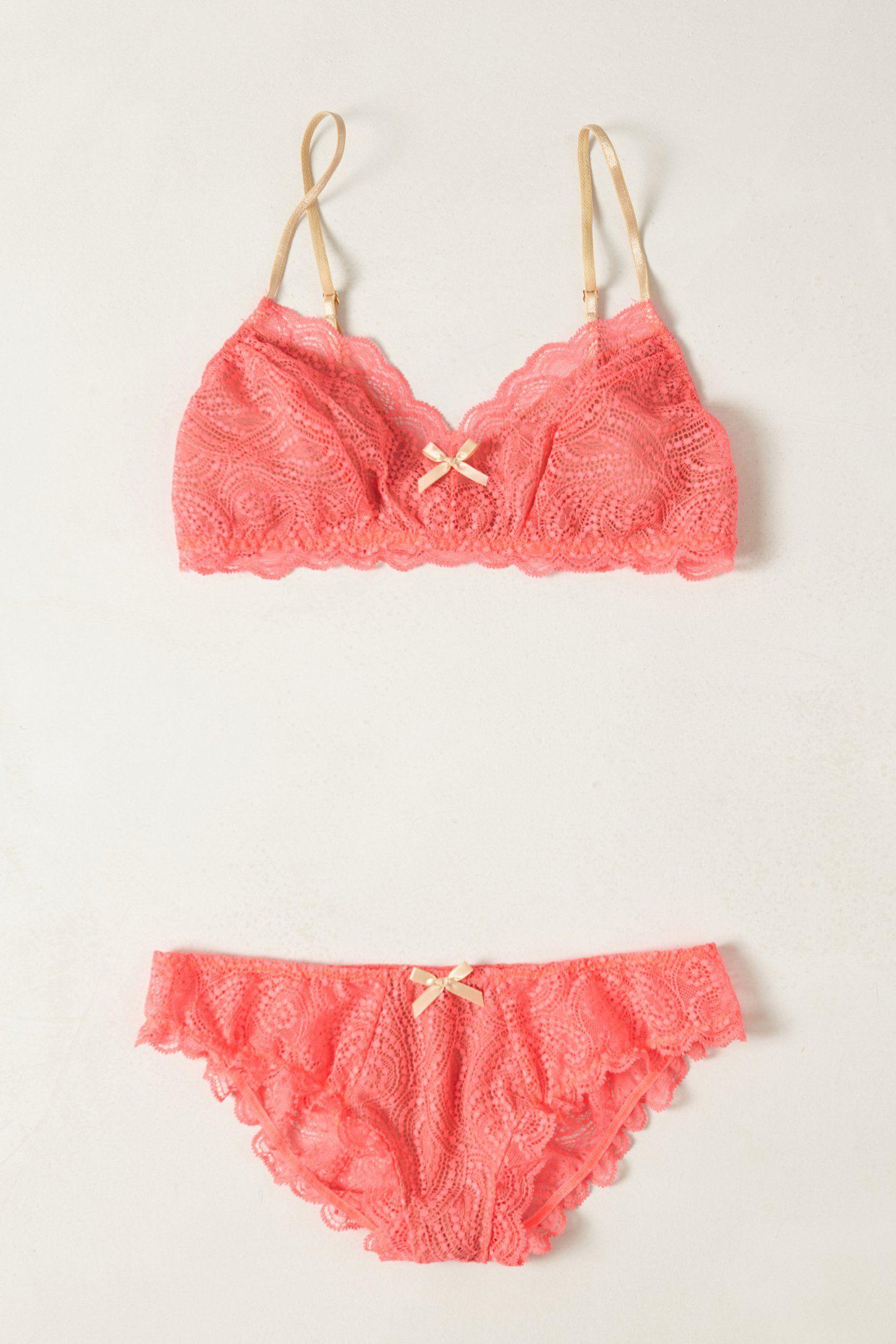 Auroral Lacy Bralette - Anthropologie.com - Sale: Panties & Bra Set $48.00 (06.21.13)