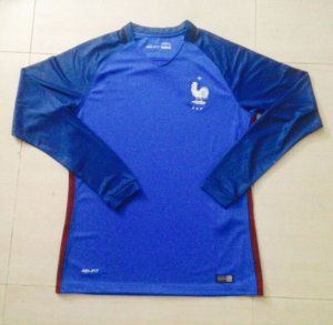 newest 651e4 69230 france national team 2016 euro blue home long sleeve soccer ...
