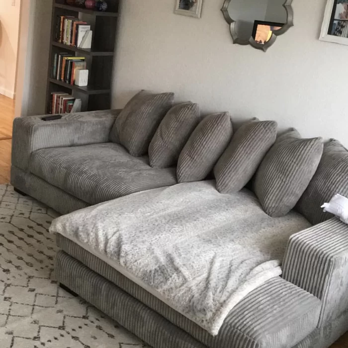 Luxe Right Hand Facing Sectional In 2020 Deep Sectional Sofa Comfortable Sectional Sofa Sectional Sofa