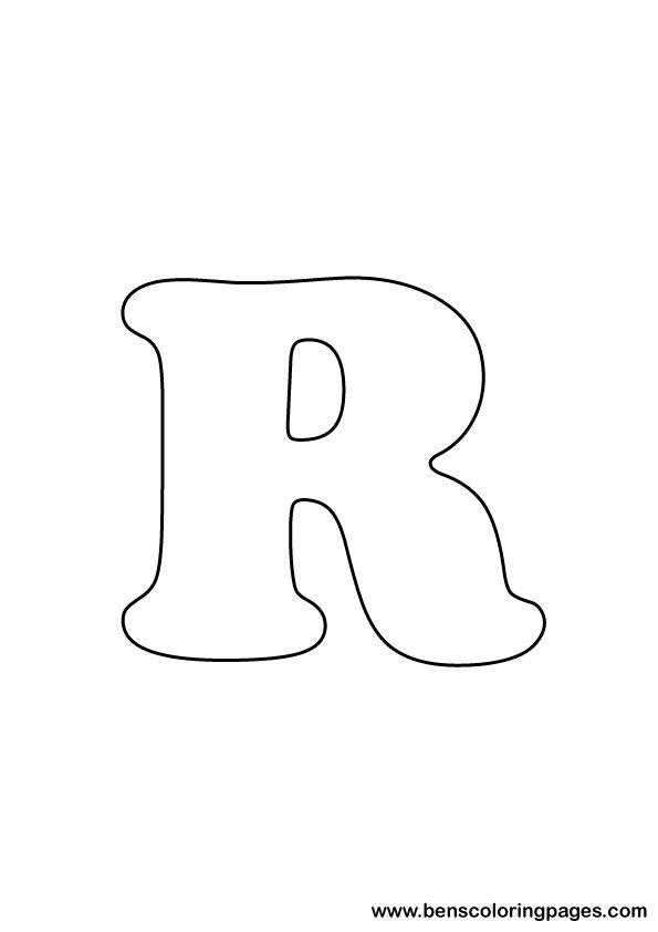 Free Letter R Coloring Page