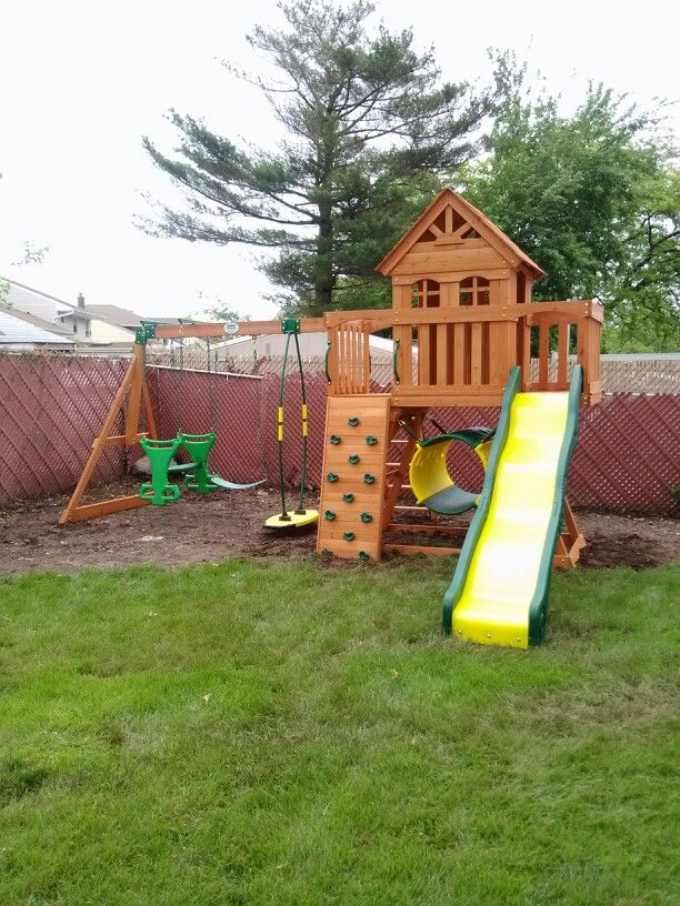 Backyard Discovery Cedar View Swing Set backyard discovery cedar view playset from bj's wholesale installed