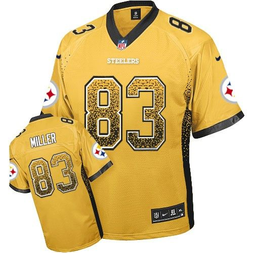 Pittsburgh Steelers Heath Miller Men's Elite Gold Nike Jersey - #83 NFL Drift Fashion