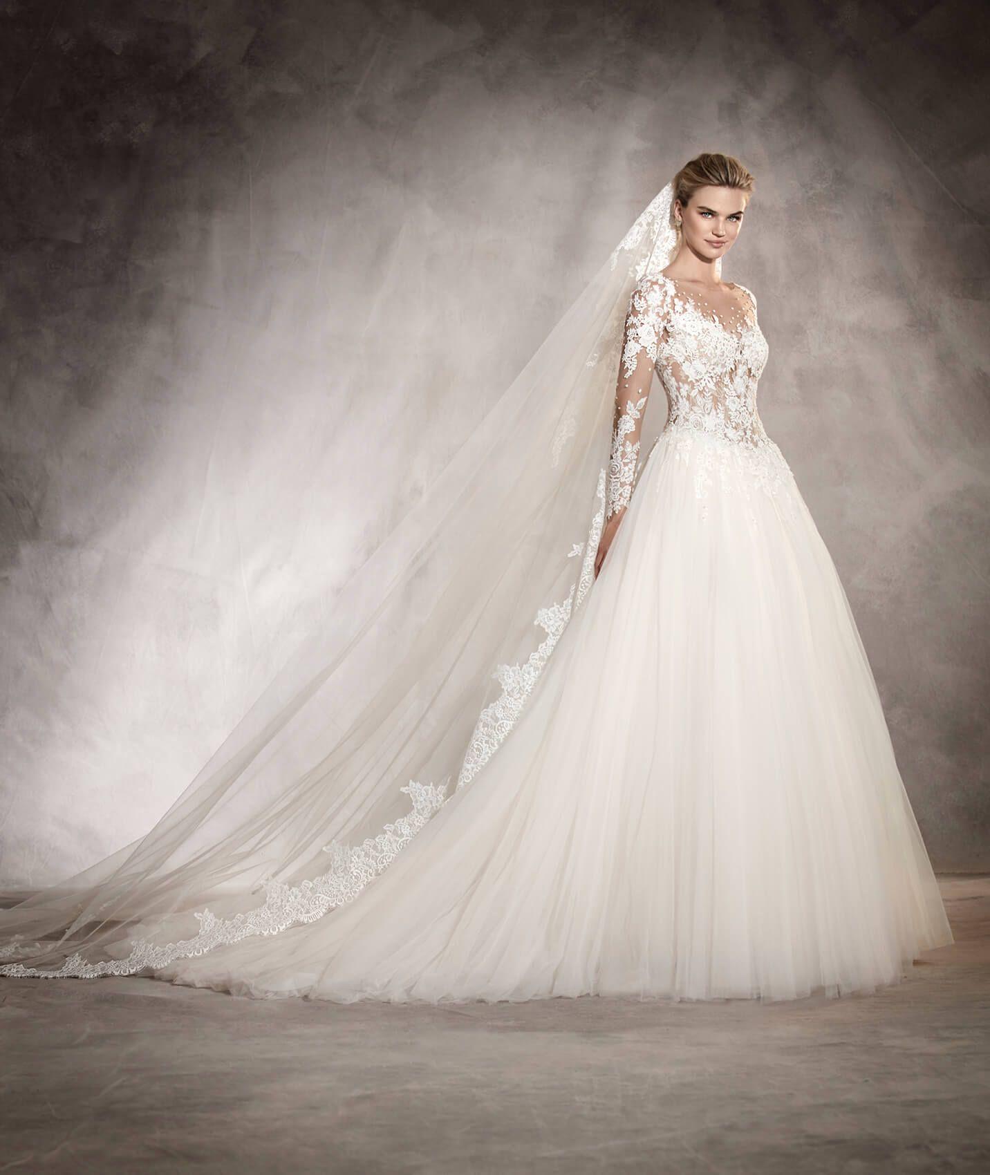 ARLENE Tailliertes Brautkleid im Prinzessin Stil mit U Boot