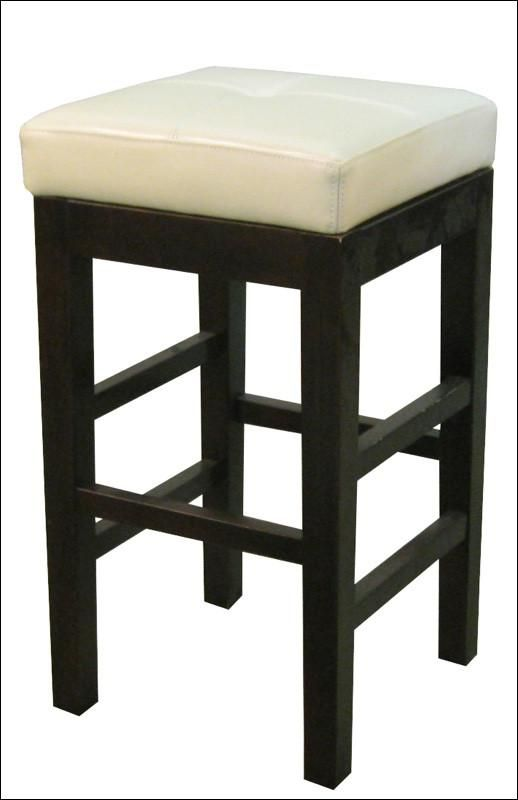 Valencia Backless Leather Counter Stool Beige