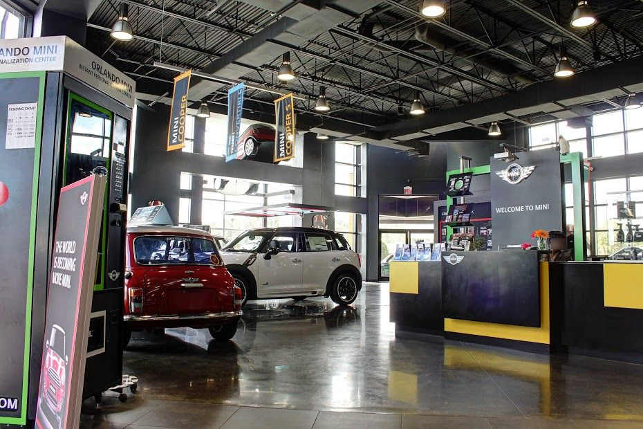 Photos of our MINI Dealership, located of I4 and Lee Road