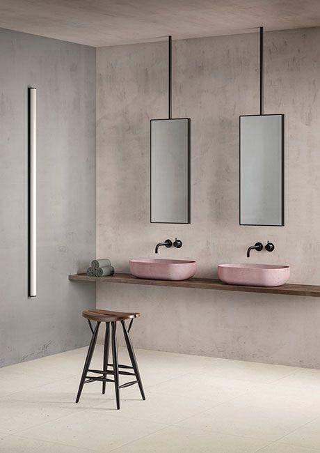 badezimmer farbton pastell grau fugenlose beschichtung Beton - badezimmer grau design