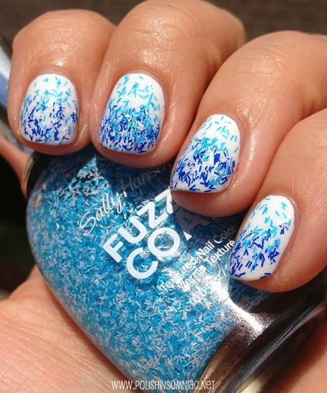 Water Inspired Nail Art with Sally Hansen Fuzzy Coat | Sally and ...