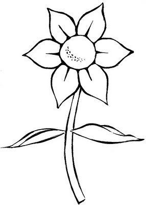 Desenho Simples De Flor Colori Risco De Flor Desenho Infantil
