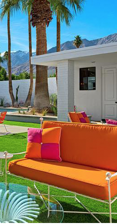 Orange White Outdoor Sofa At 2018 Modernism Week White Stainless