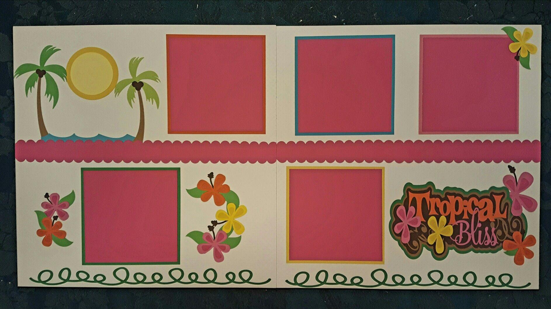Scrapbook ideas hawaii - Tropical Fun Hawaii Tropical Scrapbook 12 X 12 Layout