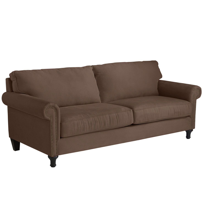 Best Alton Mahogany Brown Rolled Arm Sleeper Sofa Tan Sofa 400 x 300