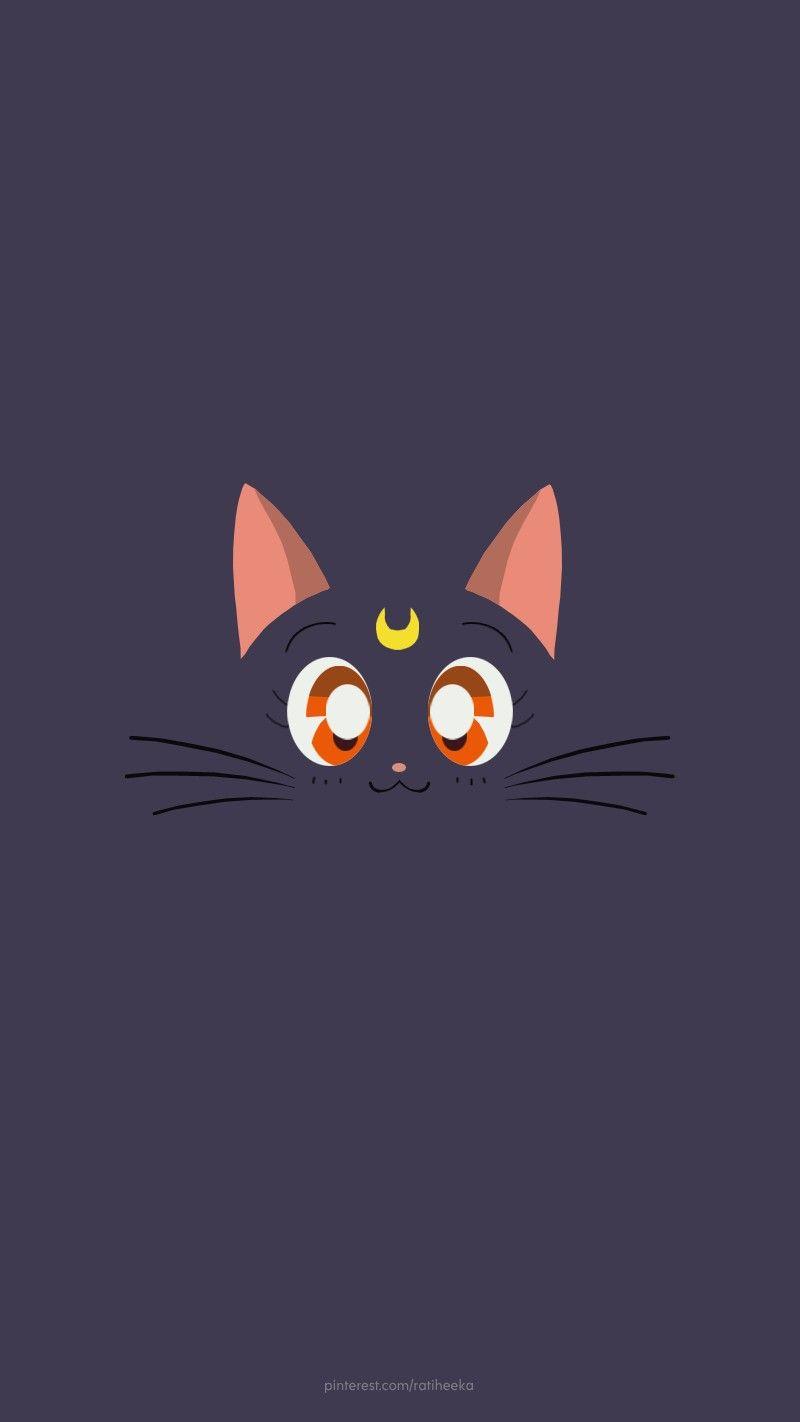 Sailormoon Luna Wallpaper Japan Anime Cartoon Cat