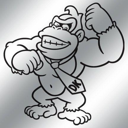 Donkey Kong Vinyl Decal 9 Color Choices Donkey Kong Vinyl Decals Old School Cartoons