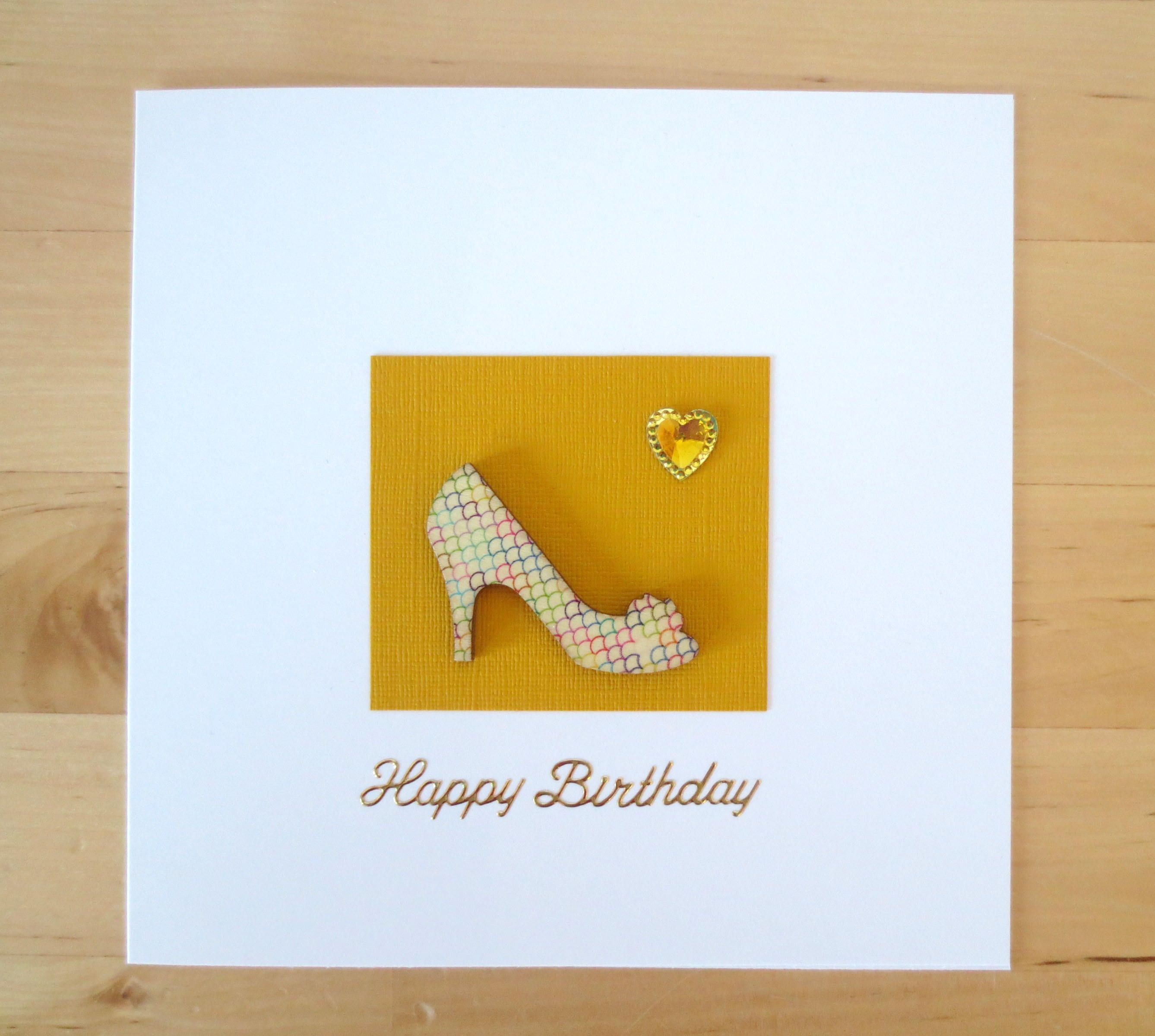 High heel card, Shoe card, wife birthday card, girlfriend