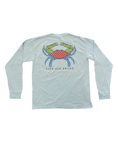 Look what I found on #zulily! Chambray Preppy Crab Long-Sleeve Pocket Tee - Unisex #zulilyfinds