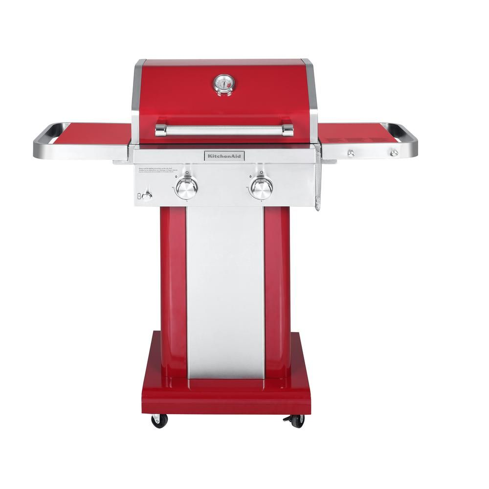 Kitchenaid 2burner propane gas grill in red7200891c
