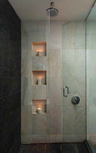 modern shower head recessed bathroom lighting. Love The Light To Dark Contrast, Shower Head And Little Niches Modern Recessed Bathroom Lighting