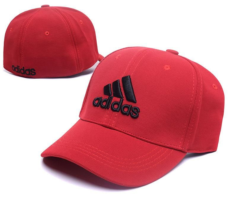 9234a85bc5e Men s   Women s Adidas The 3 Stripes Embroidery Logo Flexfit Hat - Red    Black
