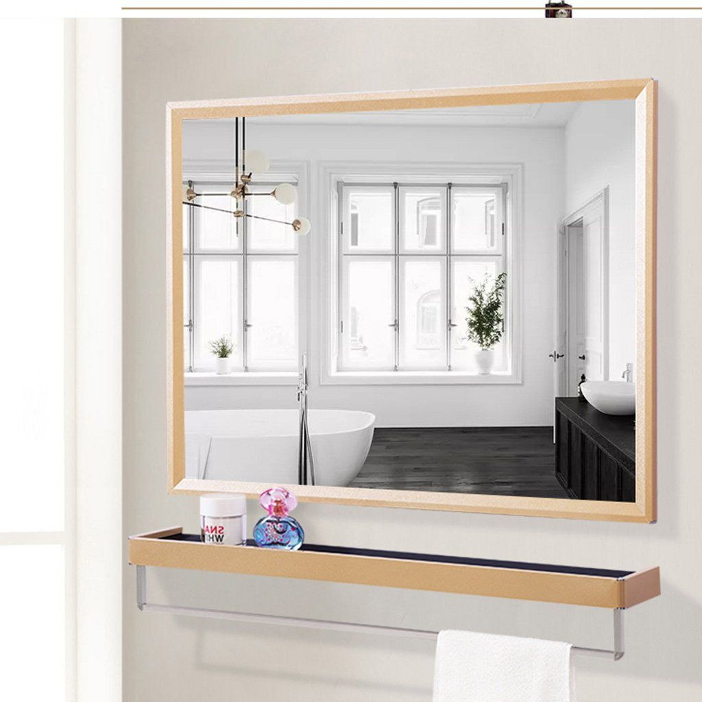 Bathroom Mirror Wall Mirror Toilet Wash Mirror Waterproof Wallmounted Bathroom Mirror Mirror Wi Mirror Wall Bathroom Kitchen Mirror Mirror With Shelf