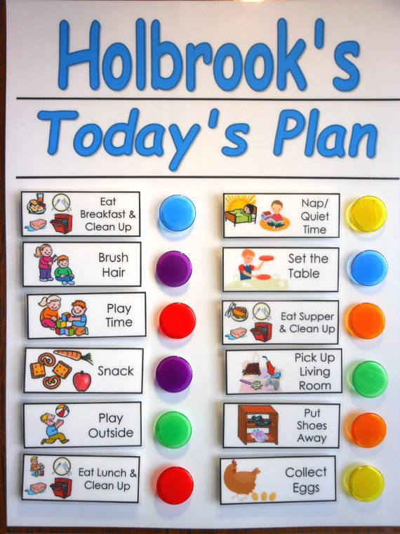 chore chart shipped for kids daily checklist to do list you