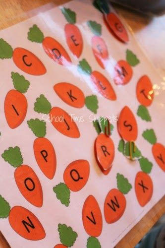 college letters letter matching carrot patch sensory processing 20897