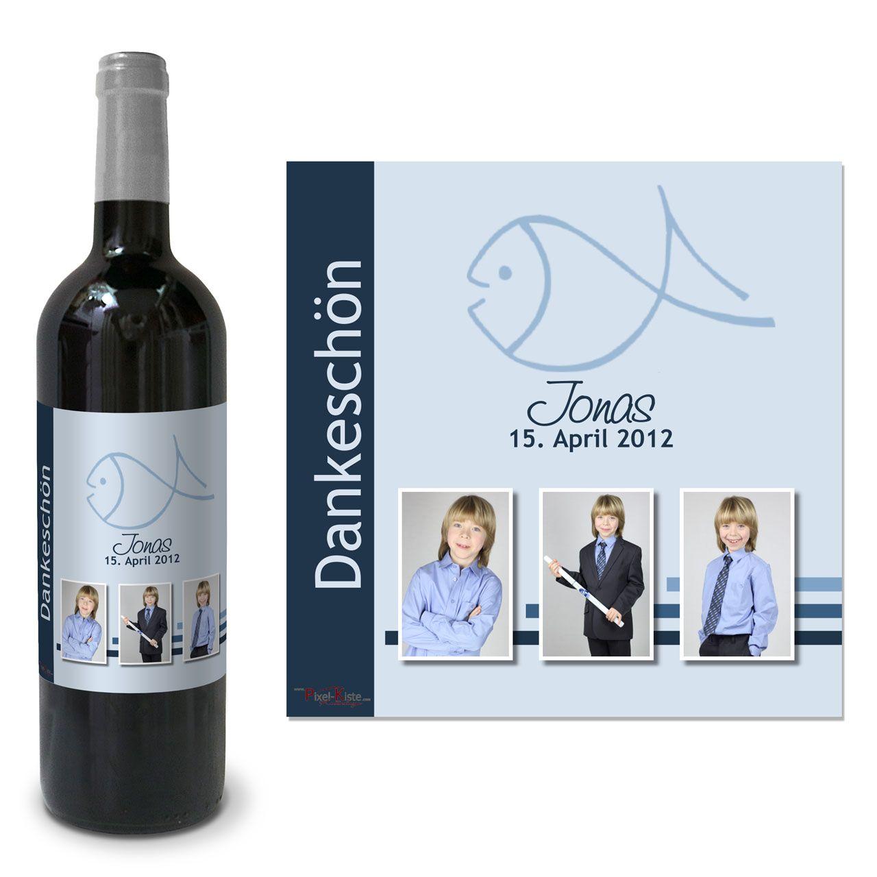 Flaschenetikett für Kommunionswein | Flaschenetiketten, Giveaway und ...
