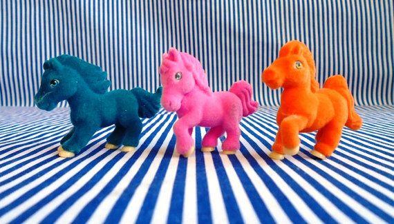 3 Flocked Horses