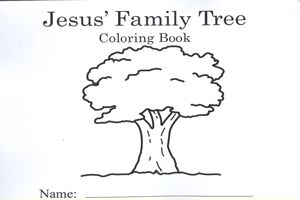 Jesus Family Tree Coloring Book Devotional And Jesus Family