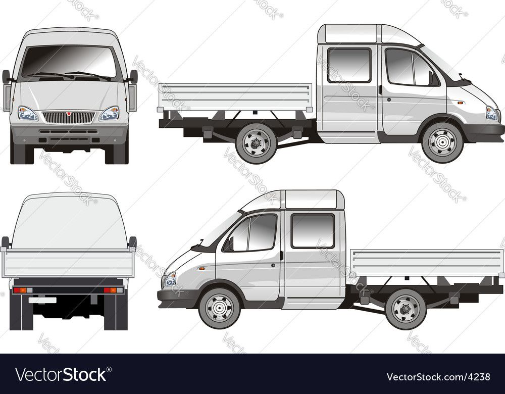 Delivery Cargo Truck Royalty Free Vector Image Ad Truck