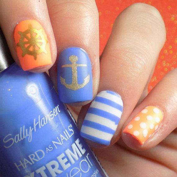 Nautical Nail Art Variety Pack by AbbysNailDesign on Etsy