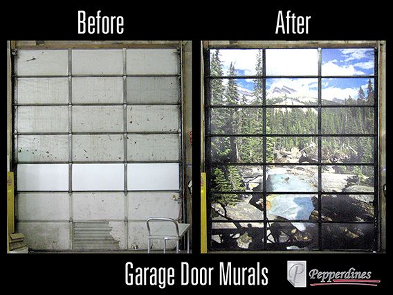 Special Promotion Garage Door Murals Enhance Your Work Area With A