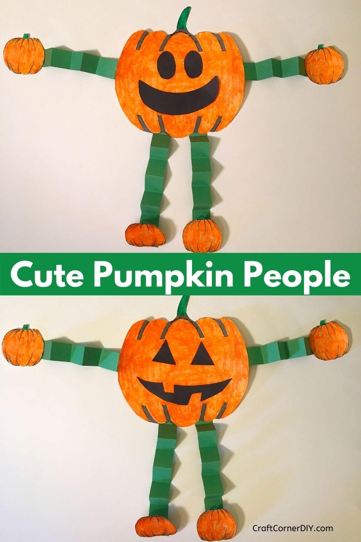 Paper Pumpkin People Halloween Craft For Kids